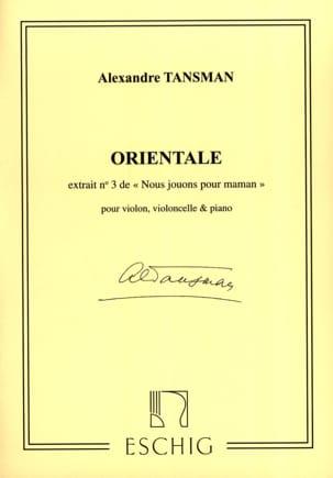 Alexandre Tansman - Nous jouons pour maman - n° 3 : Orientale - Partition - di-arezzo.fr