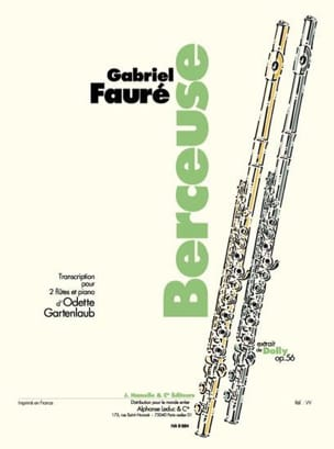 Fauré Gabriel / Gartenlaub Odette - Lullaby extr. Dolly op. 56 - 2 flutes and piano - Sheet Music - di-arezzo.com