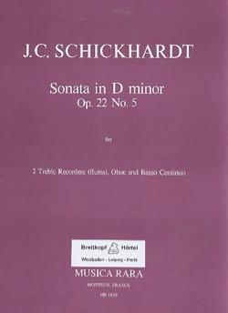 Sonata D minor op. 22 n° 5 –2 Treble recorders oboe BC - laflutedepan.com
