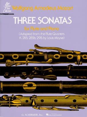 Wolfgang Amadeus Mozart - 3 Sonates – Flûte piano - Partition - di-arezzo.fr