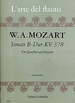 Sonate B-Dur, KV 378 - Flöte Klavier - MOZART - laflutedepan.com