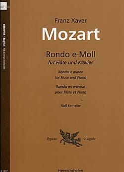 Franz Xaver Mozart - Rondo e-moll – Flöte Klavier - Partition - di-arezzo.fr