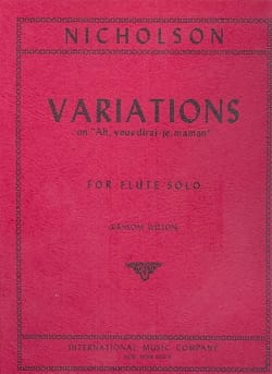 Charles Henry Nicholson - Variations on Ah, vous dirai-je Maman - Flute solo - Partition - di-arezzo.fr