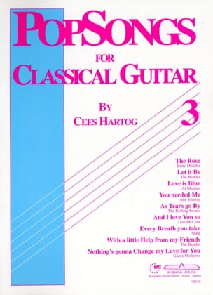Pop Songs For Classical Guitar Volume 3 Cees Hartog laflutedepan