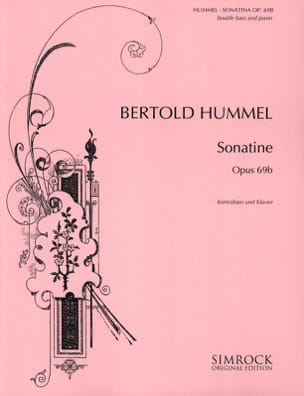 Sonatine op. 69b - Kontrabass Klavier Bertold Hummel laflutedepan