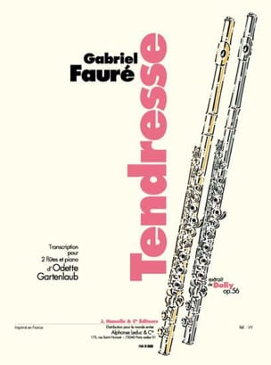 Gabriel Fauré - Tendresse - 2 Flutes and piano - Sheet Music - di-arezzo.com