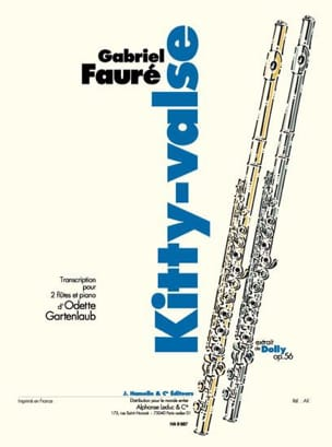 Fauré Gabriel / Gartenlaub Odette - Kitty-Waltz - 2 flutes and piano - Sheet Music - di-arezzo.com