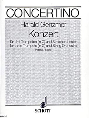Harald Genzmer - Konzert in C - 3 Trumpets and Orchester - Partitur - Sheet Music - di-arezzo.com