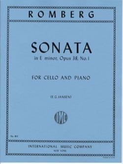 Bernhard Romberg - Sonate mi mineur op. 38 n° 1 - Partition - di-arezzo.fr