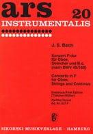Konzert in F-dur für Oboe -Partitur - BACH - laflutedepan.com