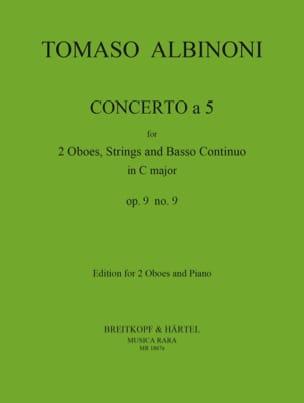 Tomaso Albinoni - Concerto tiene 5 op. 9 n ° 9 - Partitura - di-arezzo.es