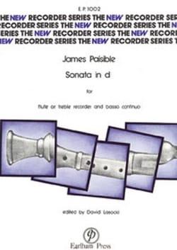 James Paisible - Sonata in d minor - flute or recorder Bc - Partition - di-arezzo.fr