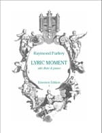 Lyric Moment Raymond Parfrey Partition laflutedepan