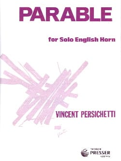 Vincent Persichetti - Parable for solo English horn - Partition - di-arezzo.fr