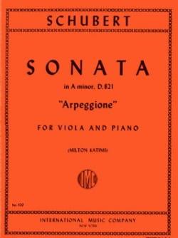SCHUBERT - Sonate Arpeggione, la mineur D.821 - Alto - Partition - di-arezzo.fr