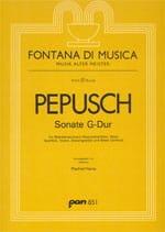 Sonate G-Dur Johann Christoph Pepusch Partition laflutedepan
