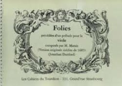 Marin Marais - Follies preceded by a Prelude for the viol - Sheet Music - di-arezzo.co.uk
