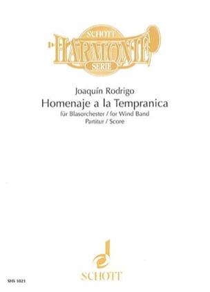 Homenaje a la Tempranica - Wind band – Score - laflutedepan.com