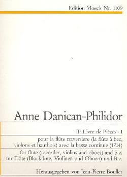 Anne Danican-Philidor - 2ème Livre de pièces - Volume 1 - Flûte Bc - Partition - di-arezzo.fr