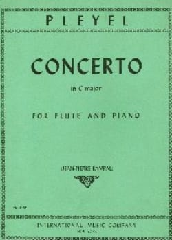 Ignaz Pleyel - Concerto in C major – Flute piano - Partition - di-arezzo.fr