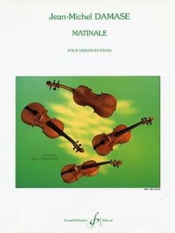 Matinale Jean-Michel Damase Partition Violon - laflutedepan