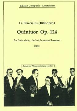 Giulio Briccialdi - Quintuor op. 124 –Windquintett - Partition - di-arezzo.fr