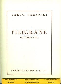 Filigrane – Flauto solo - Carlo Prosperi - laflutedepan.com