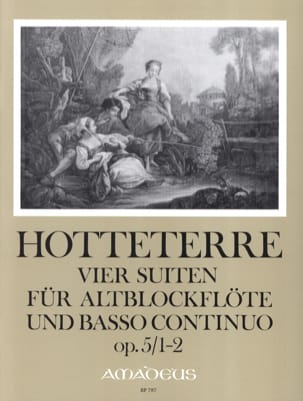 Jacques Martin Hotteterre - 4 Suiten, op. 5 - Band 1 (n° 1-2) – Alblockflöte u. Bc - Partition - di-arezzo.fr