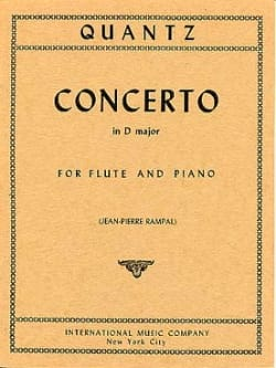 Johann Joachim Quantz - Concerto in D major - Flute piano - Partition - di-arezzo.fr