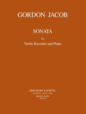 Gordon Jacob - Sonata - Treble recorder Piano - Partition - di-arezzo.fr