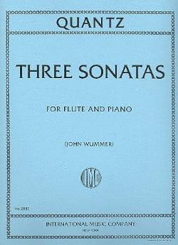3 Sonatas - Flute piano - QUANTZ - Partition - laflutedepan.com