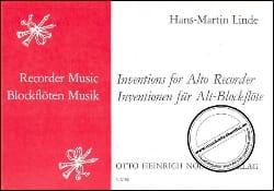 Inventions for alto recorder - Hans-Martin Linde - laflutedepan.com
