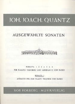 Sonata Nr. 7 -2 Flöten Bc - Johann Joachim Quantz - laflutedepan.com