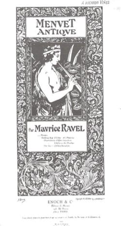 Maurice Ravel - Menuet antique – Violon (ou flûte) et piano - Partition - di-arezzo.fr