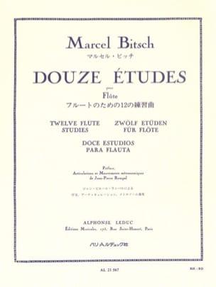 Marcel Bitsch - 12 Etudes pour flûte - Partition - di-arezzo.fr