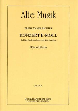 Franz Xaver Richter - Concerto pour Flûte en Mi Min. - Flûte et Piano - Partition - di-arezzo.fr