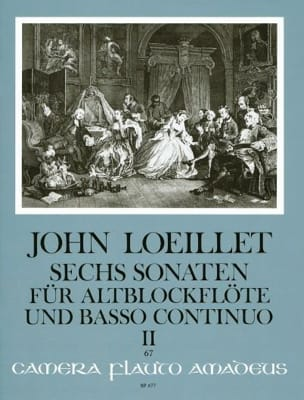 Jean-Baptiste (John) de Londres Loeillet - 6 Sonaten op. 3 - Volume 2 – Altblockflöte u. Bc - Partition - di-arezzo.fr