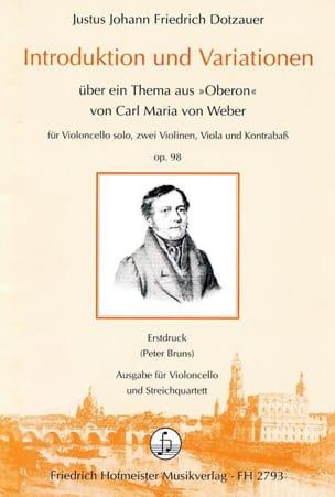 Introduktion und Variationen op. 98 -Vlc solo 2 Vln Va Kb -Partitur + Stimmen laflutedepan