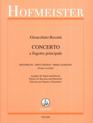 Gioacchino Rossini - Concerto a main Fagotto - Partition - di-arezzo.com