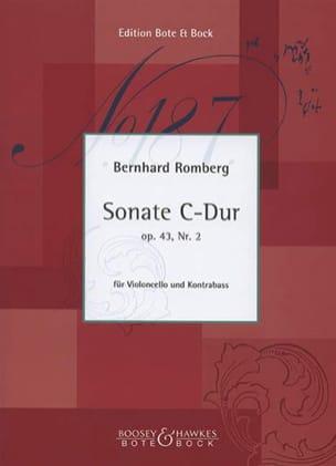 Bernhard Heinrich Romberg - Sonate C-Dur op. 43 n° 2 – Cello Kontrabass - Partition - di-arezzo.fr