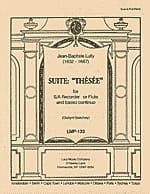 Jean-Baptiste Lully - Suite Thésée – Recorder and Bc - Partition - di-arezzo.fr
