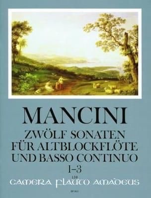 Francesco Mancini - 12 Sonaten - Nr. 1-3 – Altblockflöte U. Bc - Partition - di-arezzo.fr