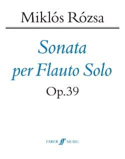 Sonata per flauto solo op. 39 - Miklos Rozsa - laflutedepan.com
