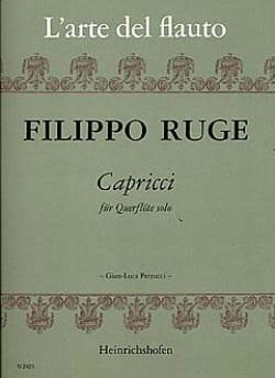 Filippo Ruge - Capricci - Flöte solo - Partition - di-arezzo.fr