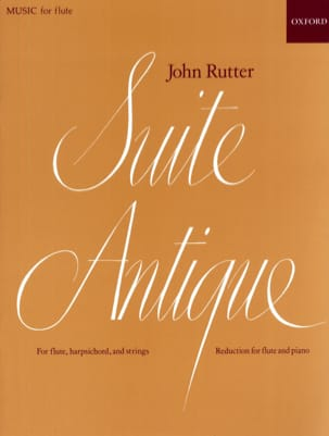 John Rutter - Suite antique - Flûte piano - Partition - di-arezzo.fr