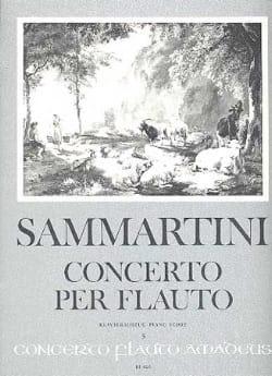 Concerto per Flauto SAMMARTINI Partition Flûte à bec - laflutedepan