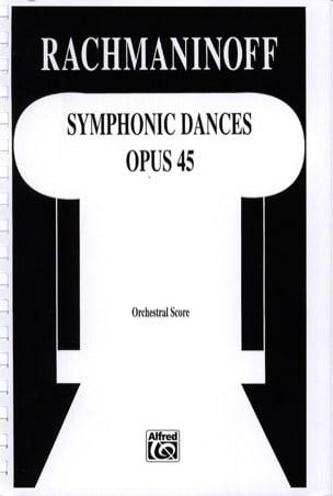 Symphonic dances - Score RACHMANINOV Partition laflutedepan