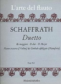 Duetto D-Dur -Flauto violino cembalo obl. - laflutedepan.com