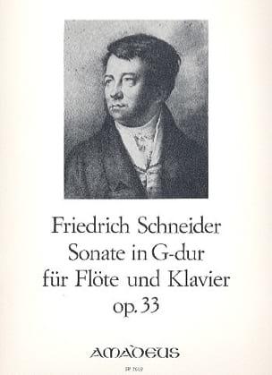 Friedrich Schneider - Sonate in G-Dur op. 33 – Flöte Klavier - Partition - di-arezzo.fr