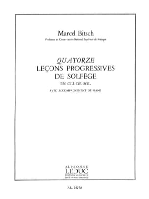 Marcel Bitsch - 14 Lecons in treble clef - with acc. - Sheet Music - di-arezzo.co.uk